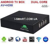 M-15 Android tv-box IPTV 1080P HD player Dual Core Android 4.2 1G 4G HDMI VGA AV Output+пульт+lan+audio+usb-4, фото 1
