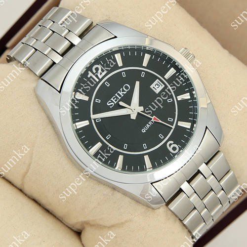 Классические наручные часы Seiko Classic Steel Silver/Black 1033-0009