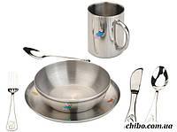 Детский набор: столовые приборы и посуда (тарелки и кружка) 1108483