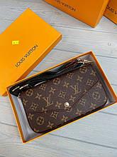 Сумка жіноча в стилі Louis Vuitton Луї Вітон 3 в 1 коричневого кольору