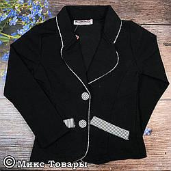 Пиджаки чёрного цвета для девочек Размеры: 116,128,140,152,164 см (02331-2)