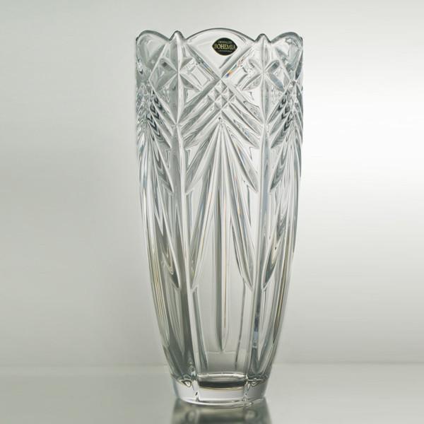 Ваза для цветов Bohemia Taurus h25 см богемское стекло, Ваза из стекла, Стеклянная ваза для цветов 25 см
