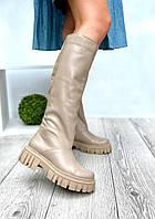 Жіночі демісезонні чоботи капучіно
