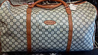 Дорожная сумка Gucci экокожа  60x35x30
