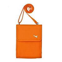 Сумочка-органайзер через плечо для путешественников Оранжевая, фото 1