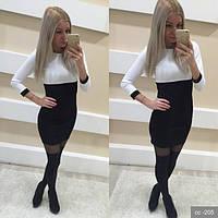 Двухцветное платье женское