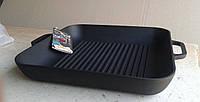 Сковорода гриль чугунная Ситон, квадратная, 280мм*280мм, h=40мм