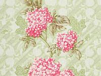 Обои на стену, цветы, крупный рисунок, зеленые, акриловые на бумажной основе, Клара 7086-04,0,53*10м
