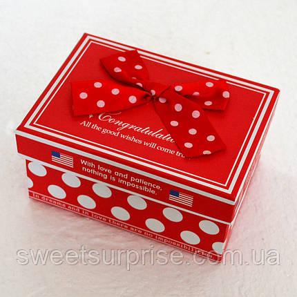 Подарочная коробка в горошек (мини), фото 2