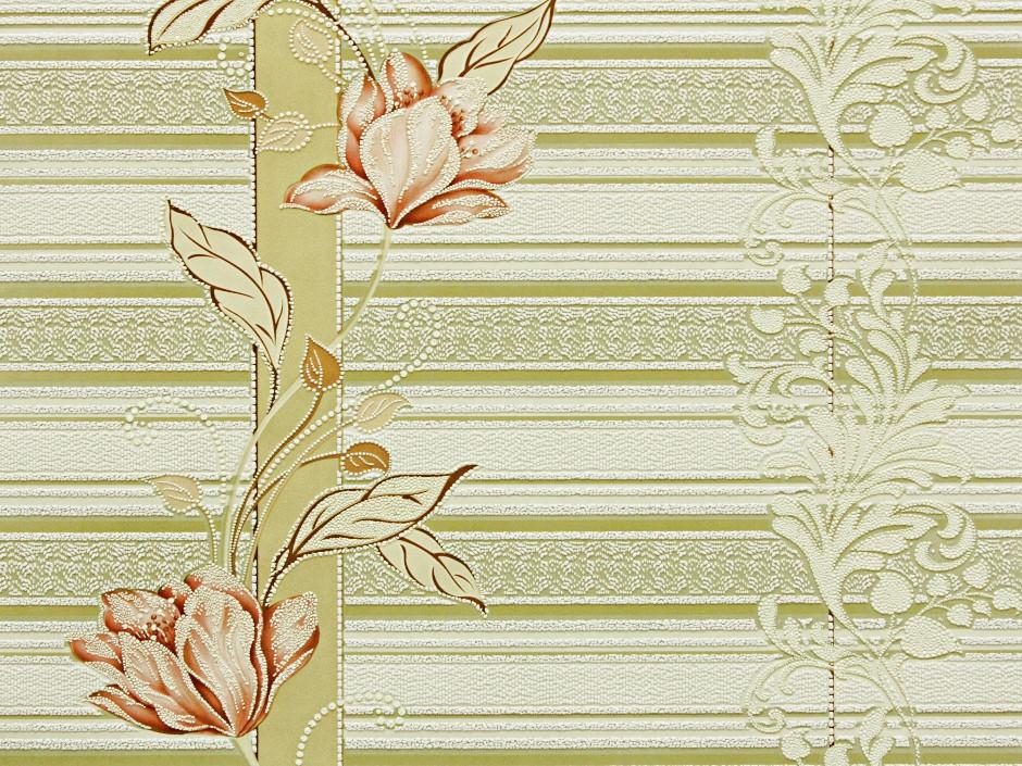 Обои на стену, цветы, светлые, акриловые, B76,4 Марго 7019-05, 0,53*10м