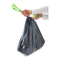 """IKEA """"ФОРСЛУТАС"""" Мешок для мусора, серый / 20 шт. 24 л."""