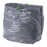 """IKEA """"ФОРСЛУТАС"""" Мешок для мусора, серый / 16 шт. 46 л."""