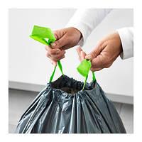 """IKEA """"ФОРСЛУТАС"""" Мешок для мусора, серый / 14 шт. 72 л."""