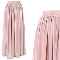 Шифоновая светло-розовая юбка