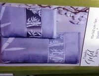 Красивые бамбуковые велюровые полотенца Голд