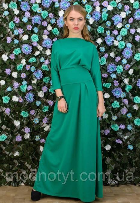 Платье женское в пол,Женское зеленое платье в пол -