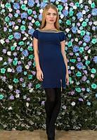 Женское синие платье,Женское платье с открытой спинкой