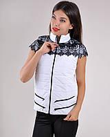 Женская жилетка кружево р. 48 белая