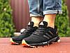 Кроссовки мужские в стиле Adidas Marathon, черные с оранжевым