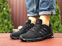 Кроссовки мужские в стиле Adidas Marathon, черные, фото 1