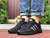 Кросівки чоловічі в стилі Adidas, чорні з помаранчевим, фото 1