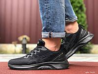 Мужские спортивные кроссовки в стиле Asics, черные, фото 1