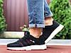 Кросівки чоловічі демісезонні в стилі Adidas Neo, чорно білі \ червоні