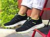 Кроссовки женские демисезонные в стиле Adidas Neo, черно белые \ салатовые