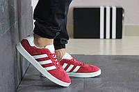 Кросівки чоловічі демісезонні в стилі Адідас Газель, червоні, фото 1