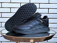 Кроссовки зимние мужские на меху в стиле Adidas Iniki, черные, фото 1