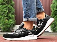 Кроссовки демисезонные мужские в стиле New Balance 1500, черные с серым \ белым, фото 1