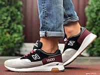 Кросівки чоловічі демісезонні в стилі New Balance 1500, сірі з чорним \ бордовим, фото 1