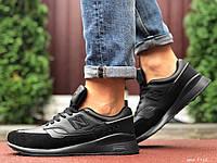 Кросівки чоловічі демісезонні в стилі New Balance 1500, чорні, фото 1