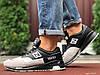 Кроссовки демисезонные мужские в стиле New Balance 1500, черные с бежевым
