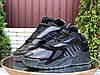 Кросівки зимові чоловічі на хутрі в стилі Adidas Streetball, чорні