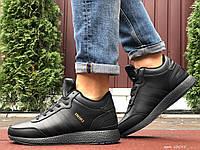 Кросівки зимові чоловічі на хутрі в стилі Adidas Iniki, чорні, фото 1