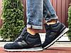 Кросівки зимові чоловічі на хутрі в стилі New Balance 574, високі, темно сині