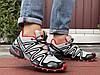 Кроссовки мужские демисезонные в стиле Salomon Speedcross 3, светло серые с красным