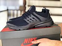 Кросівки чоловічі демісезонні в стилі Niкe Air Presto, темно сині, фото 1