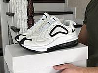 Кроссовки мужские на воздушной подушке демисезонные в стиле Nike Air Max 720, белые, фото 1