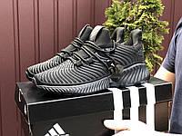 Кросівки чоловічі демісезонні в стилі Adidas Alphabounce Instinct, чорні, фото 1
