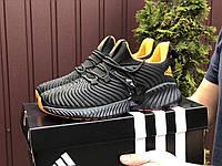 Кроссовки демисезонные мужские в стиле Adidas Alphabounce Instinct, черные с оранжевым, фото 1