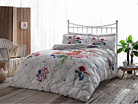 Комплект постельного белья Tac Delux Selby бордовый