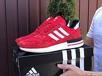 Кроссовки демисезонные мужские в стиле Adidas Zx 500 Rm (сетка), красные, фото 1