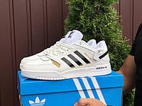 Кроссовки мужские демисезонные в стиле Adidas Drop Step, белые, фото 1