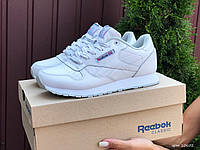 Жіночі демісезонні кросівки в стилі Reebok Classic, білі Рібок, фото 1