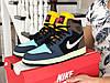 Мужские демисезонные высокие кроссовки в стиле Nike Air Jordan, разноцветные Найк Аир Джордан