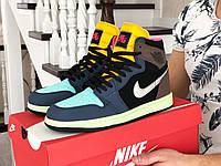 Мужские демисезонные высокие кроссовки в стиле Nike Air Jordan, разноцветные Найк Аир Джордан, фото 1