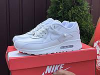 Чоловічі демісезонні кросівки в стилі Nike Air Max 90, білі Найк Аір Макс 90, фото 1