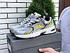 Кросівки чоловічі демісезонні в стилі New Balance Abzorb 530, сітка, сіре з жовтим